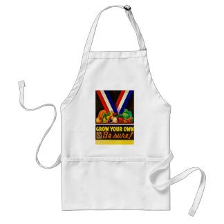 Grow Your Own Be Sure Vintage Victory Garden WWII Adult Apron