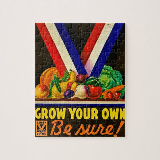 Grow Your Own Be Sure Vintage Victory Garden WWII Jigsaw Puzzle