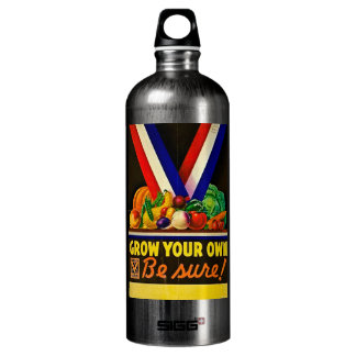 Grow Your Own Be Sure Vintage Victory Garden WWII SIGG Traveler 1.0L Water Bottle