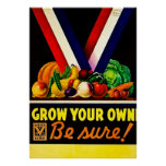 Grow Your Own - Be Sure! Vintage World War II Posters