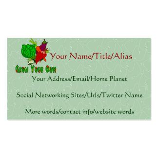 Grow Your Own Double-Sided Standard Business Cards (Pack Of 100)