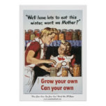 """Grow Your Own, Can Your Own"" WWII Poster"