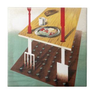 Grow Your Own Food Ceramic Tile