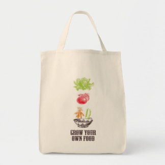 Grow Your Own Food Grocery Tote Grocery Tote Bag