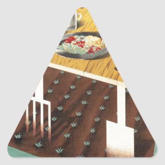 Grow Your Own Food Triangle Sticker