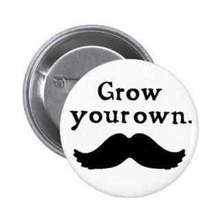 Grow Your Own Moustache Button
