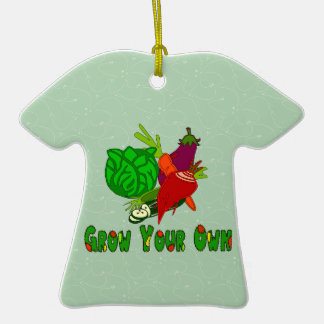 Grow Your Own Double-Sided T-Shirt Ceramic Christmas Ornament
