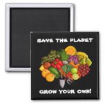 Grow Your Own, square magnet Refrigerator Magnets