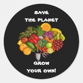 Grow Your Own, sticker Round Sticker