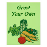 Grow Your Own Vegetables Print