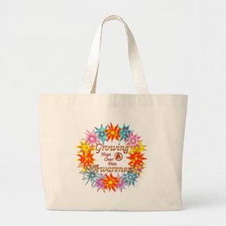 Growing Awareness Hope Over Pain Phoenix Flowers Tote Bags