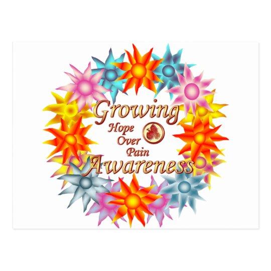 Growing Awareness Hope Over Pain Phoenix Flowers Postcard