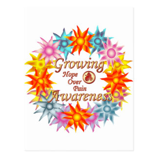 Growing Awareness Hope Over Pain Phoenix Flowers Post Cards