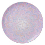 Growing Circle - geometric pattern - Dinner Plate