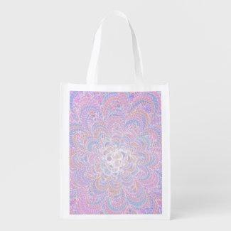 Growing Circle - geometric pattern - Grocery Bag