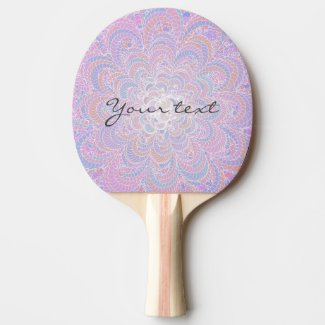 Growing Circle - geometric pattern - Ping Pong Paddle