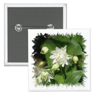 Growing Columbine Flowers Square Pin
