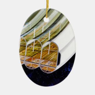 Growing Crops on a Space Station Christmas Tree Ornaments