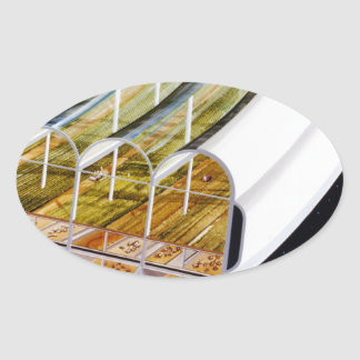 Growing Crops on a Space Station Oval Sticker