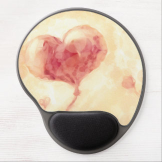 Growing heart gel mouse pad