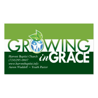 Growing in Grace business card