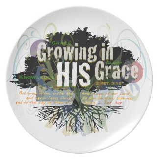 Growing in HIS Grace Dinner Plate