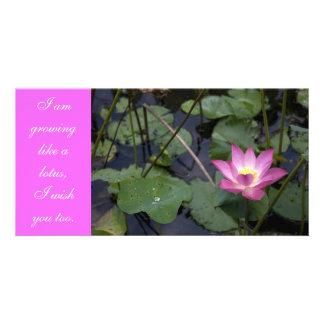 Growing like a lotus card