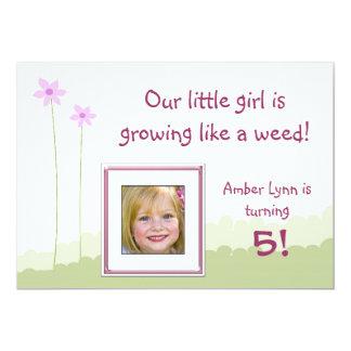 Growing Like A Weed Little Girl Birthday Card