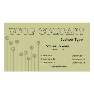 Growing Lines to Circles Dark Business Card Template