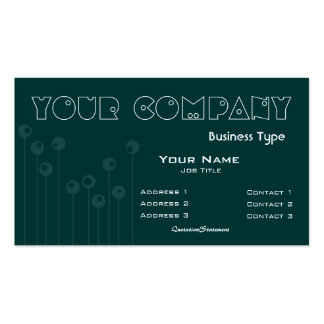 Growing Lines to Circles Light Business Card