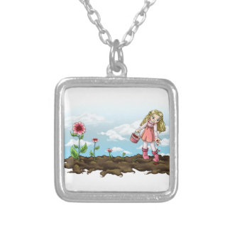 Growing Love Silver Plated Necklace