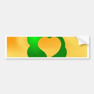 Growing love tree heart bumper sticker