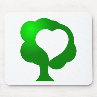 Growing love tree heart mouse pad