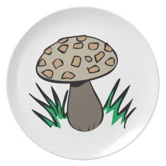Growing Mushroom Party Plate
