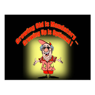 Growing Old Funny T-shirts Gifts Postcard