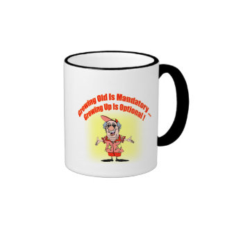Growing Old Funny T-shirts Gifts Ringer Coffee Mug