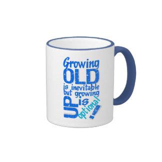 Growing Old mug - choose style color
