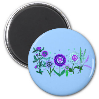 Growing Peace 2 Inch Round Magnet