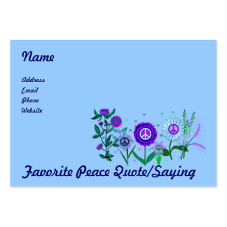 Growing Peace Business Card Template