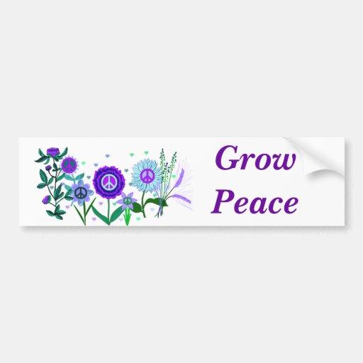 Growing Peace Car Bumper Sticker