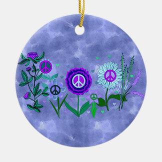 Growing Peace Ceramic Ornament