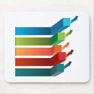 Growing Profits Chart Icon Mouse Pad