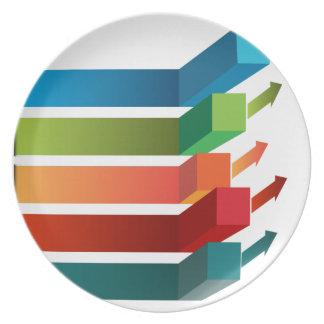 Growing Profits Chart Icon Plate
