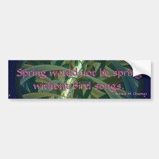 Growing Seed Moon Car Bumper Sticker