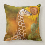 Growing Tall - Giraffe Art Decorator Pillow