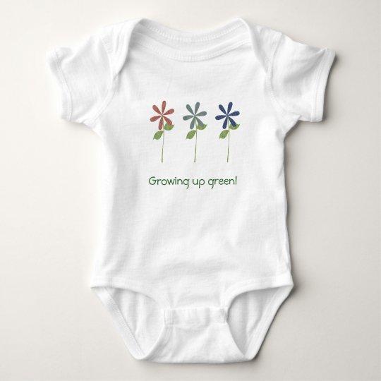 Growing up green! baby bodysuit