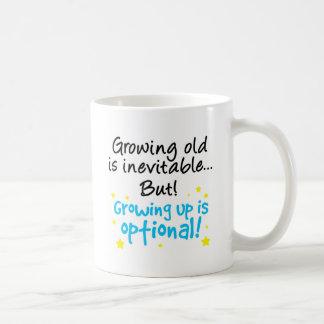 Growing up is optional coffee mug