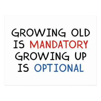 Growing Up Is Optional Postcard