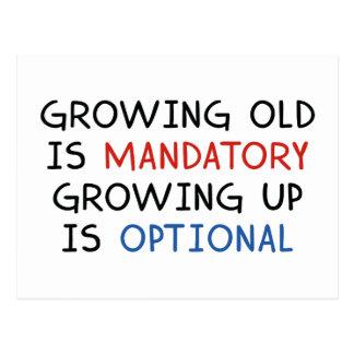 Growing Up Is Optional Postcard