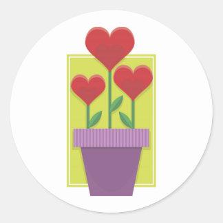 Growing Valentine Love Classic Round Sticker